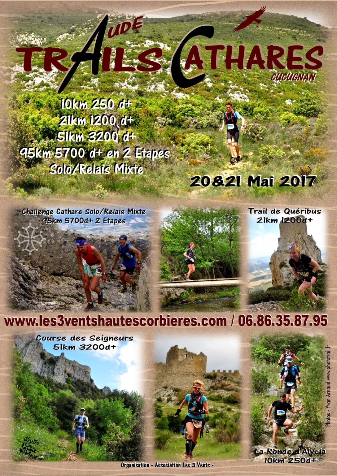 Affiche Trails Cathares 2017